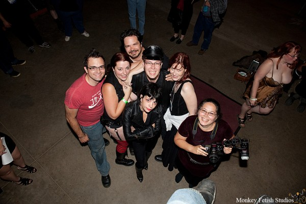 From L to R: Lqqkout, Me, Graydancer, Lee Harrington, Cherry, Naiia, M.Mayhem (Photo by: a suspended Leon Von Monkeyfetish)